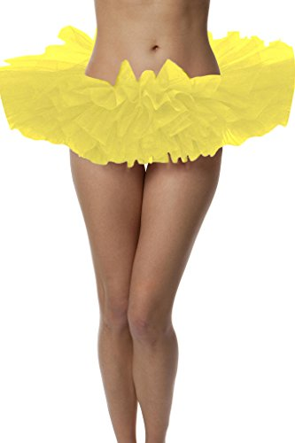 Top Rated Adult Tutu Skirt, ballet tutu style, by BellaSous. Perfect princess tutu, adult dance skirt, rehearsal tutu, or petticoat skirt. Plus size tutu available! One Size - Yellow (Yellow Tutu For Adults)