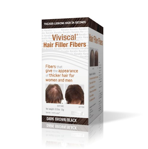 Viviscal Hair Filler Fibers, Dark Brown/Black