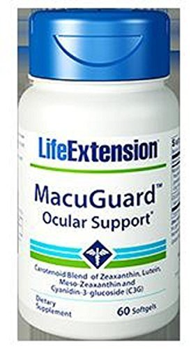 Life Extension Macuguard Ocular Support Softgels, 60 Coun...