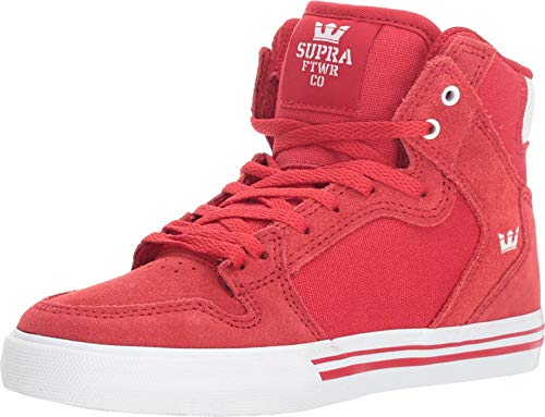 Supra Kids Boy's Vaider (Little Kid/Big Kid) Formula One/White/White 3.5 M US Big Kid ()