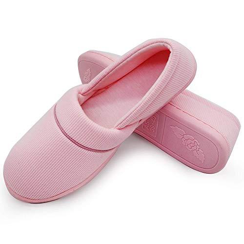 Plaid Fond Printemps Intérieures Pantoufles Femmes Automne Coton Maison Chaussures Rose Huateng Chaud Flats Enceintes Doux Mocassins Chambre zFq8wn