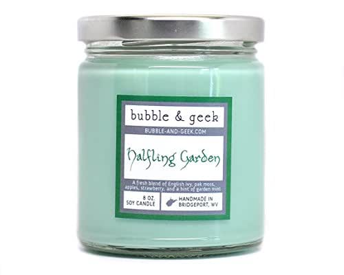 Halfling Garden Scented Soy Candle, Book Lovers Gifts