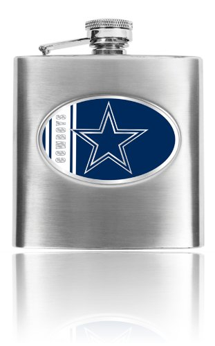 Great American Products Personalized NFL Dallas Cowboys 8oz stainless steel Flask- Free Engraving ()