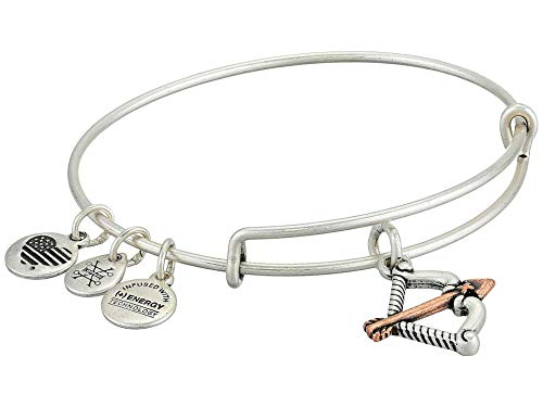 - Alex and Ani Women's Two Tone Cupid's Arrow Charm Bangle Bracelet, Rafaelian Silver, Expandable