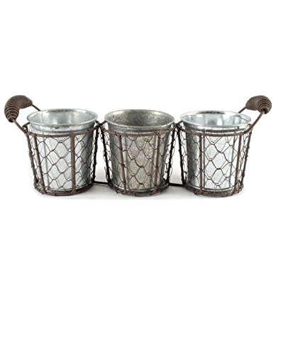UPC 809678364809, Blossom Bucket 131-36480 Triple Round Decorative Wire Basket with Handles