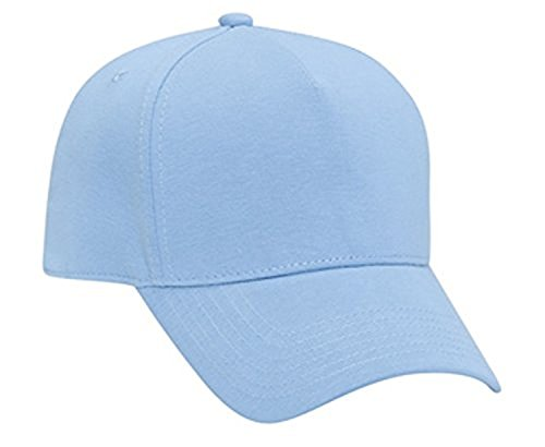 Hats & Caps Shop Jersey Knit Five Panel Pro Style Caps - Lt. Blue - By TheTargetBuys Five Panel Pro Style Caps
