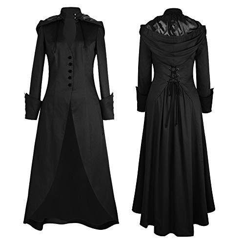 s Winter Lapel Slim Coat Trench Jacket Long Parka Overcoat Outwear (M, BlackB) ()