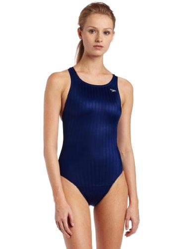 Speedo Women's Race Lycra Blend Aquablade Recordbreaker Swimsuit,Navy,34