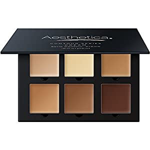 Best Epic Trends 41BbeHpBHFL._SS300_ Aesthetica Cosmetics Cream Contour and Highlighting Makeup Kit - Contouring Foundation / Concealer Palette - Vegan…