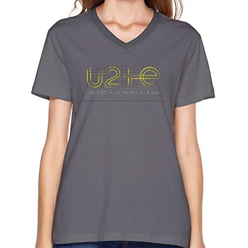 Goldfish Women's Nerd Slim Fit U2 V-neck T-Shirt Deep Heather US Size XL