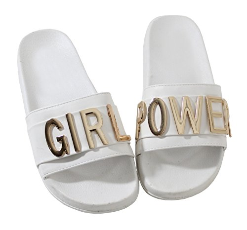 By Shoes Claquette Girl Style Cuir - Femme white gFFDqkobr