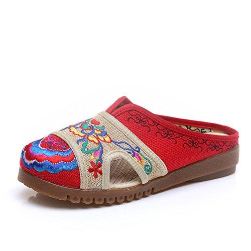 xichengshidai - Mocasines de Lona para mujer multicolor multicolor 36 EU, color multicolor, talla 39 EU