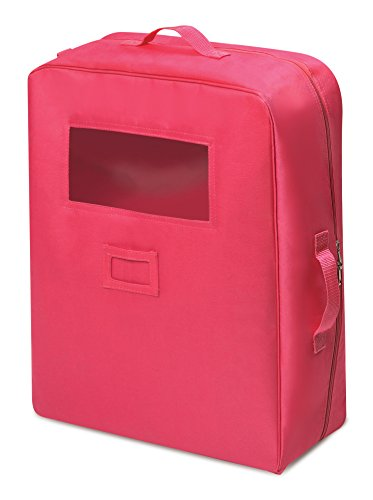 (Badger Basket Double Doll Travel Case with Bunk Bed (fits American Girl Dolls), Dark Pink)