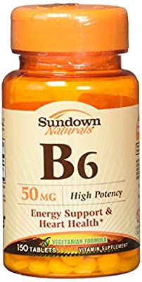 Sundown B-6 50 mg Tablets 150 Tablets
