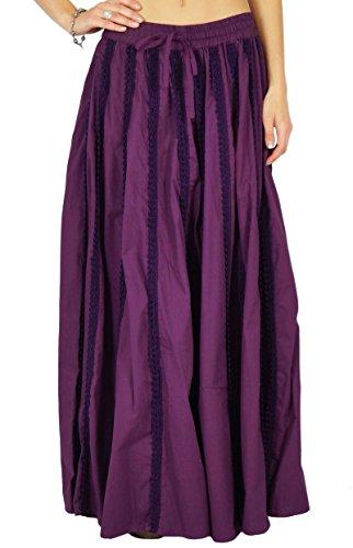 Phagun Jupe Coton Vtements Jupe Maxi Resort Wear Femmes Violet