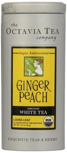 Octavia Tea Ginger Peach (Organic White Tea) Loose Tea, 1.23 Ounce Tin by Octavia Tea