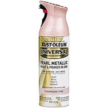 Rust-Oleum 301537 Universal All Surface Spray Paint 11 Oz, Pearl Metallic Champagne Pink Mist