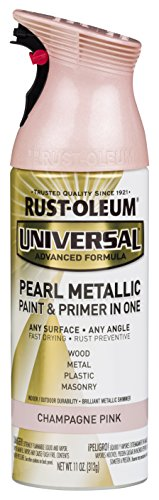 Gold Pearl Paint (Rust-Oleum 301537 Universal All Surface Spray Paint, 11 oz, Pearl Metallic Champagne Pink)