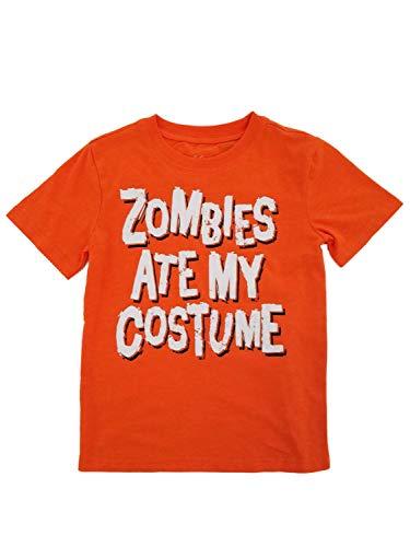 City Streets Boys Orange Zombies Ate My Costume Halloween T-Shirt -