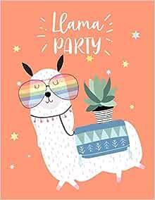 Llama Party: llama for Kids and Unicorn Sketch Coloring ...