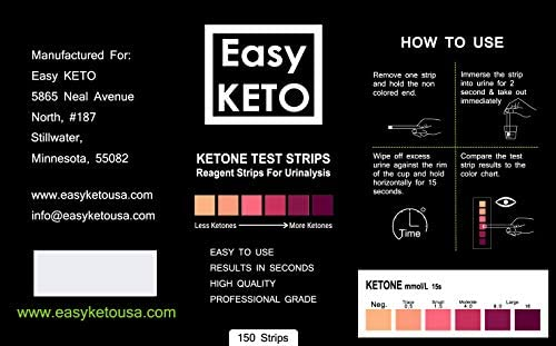 Easy Keto Ketone Testing Strips: For Urinalysis 150 High Grade Test Sticks Accurately Measure Urine Level For Ketones Perfect For Ketogenic Paleo Low Carb and Atkins Diets and Monitoring Ketosis 7