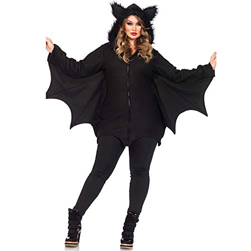 Halloween Costumes MYDAFA Cosplay Halloween of the Witch Sexy Vampire Female Batman Costume (Black, XXL) ()