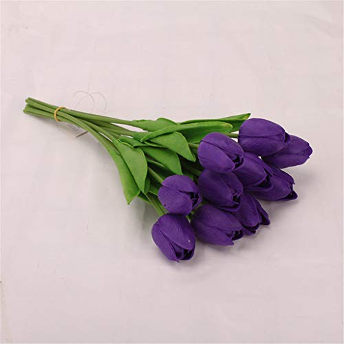 OrchidAmor Tulip Artificial Flower Latex Real Bridal Wedding Bouquet Home Decor 20pcs 2019