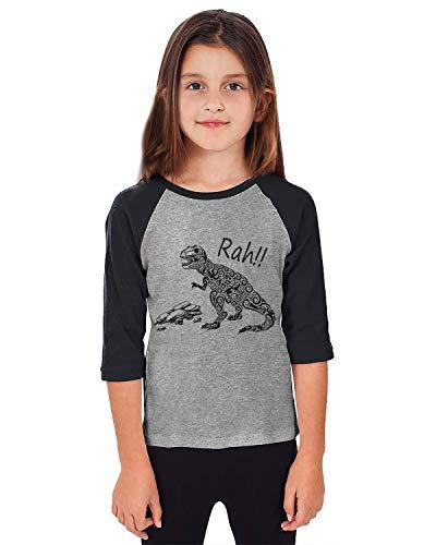 - Fanient Unisex Kids Girls Baseball Shirt Baise 3/4 Sleeve Raglan Tee Funny Dinosaur Blouse 5-6 T