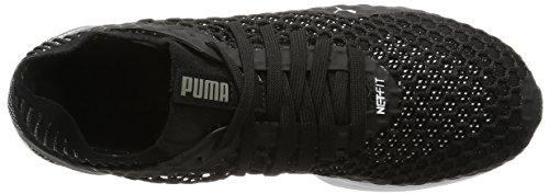 Puma Herren Ignite Netfit Outdoor Fitnessschuhe Schwarz (Black-Quiet Shade-White)