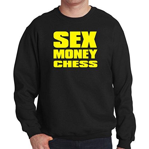 SEX , MONEY Chess Mens Sweatshirt
