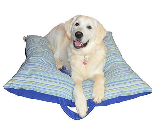 Pup Z Pillow - Patterned Dog Bed - w/Colorful Indoor - Outdoor Fabric! Large Sized Dog