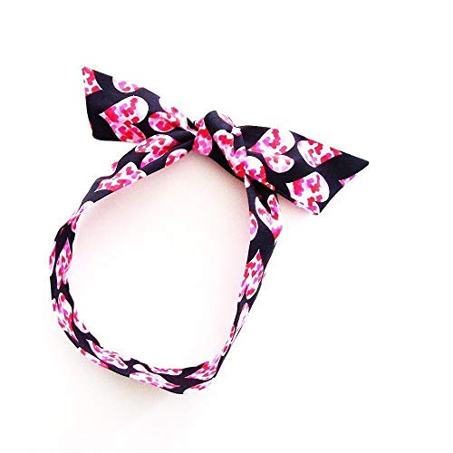 - Heart Sprinkles Head Scarf / ME2Designs Multi-Functional Cotton Accessory