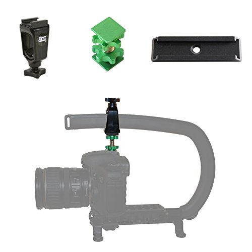 (Cam Caddie Scorpion / EX Lockout Kit and Stabilizer Support Mount / Bracket for Canon Nikon Sony and Panasonic / Lumix DSLR Camera Includes: (1) Accessory Shoe + (1) D - Flashner + (1) 3