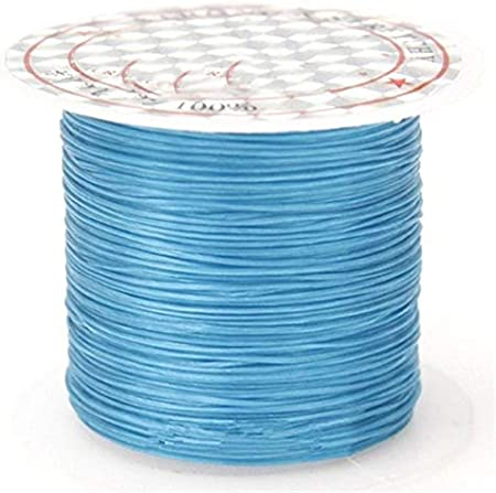 393inch//Roll Strong Elastic Crystal Beading1mm Bracelets Stretch String Necklace