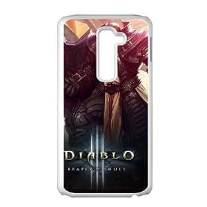 diablo iii reaper of souls battle LG G2 Cell Phone Case White 53Go-208983