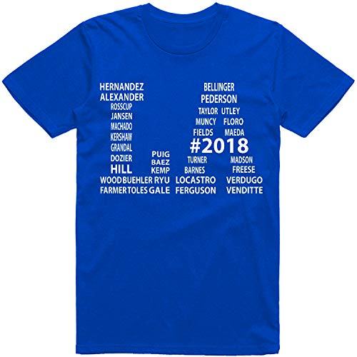 Vibeink Los Angeles LA Limited Edition 2018 Team Roster Names T-Shirt (3X, Royal Blue)