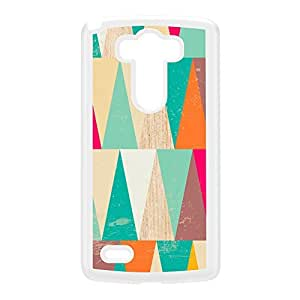 Colorful Triangles on Wood Texture White Hard Plastic Case for LG G3 by UltraCases + FREE Crystal Clear Screen Protector