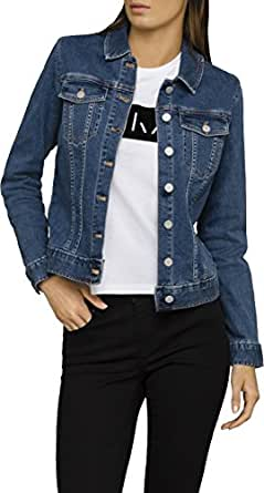 Calvin Klein Women's Denim Trucker Jean Jacket,Blue,X-Small