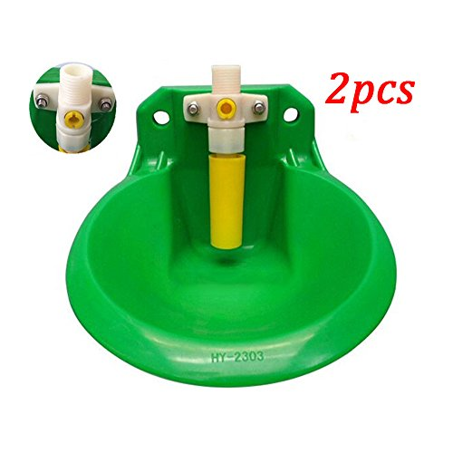 Green ABS Material Plastic Valve Animal drinkers Cattle Sheep Horse Swine Dog automatic water bowl 18cm Farm animal feeders (2) (Dog Oval Feeder)