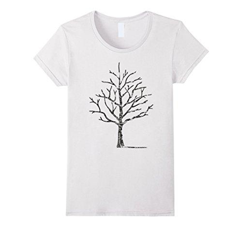 Womens Tree T-Shirt Small White