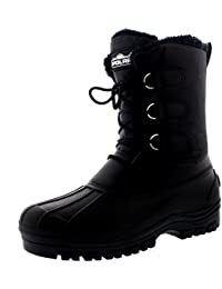 Mens Muck Lace up Short Nylon Winter Snow Rain Lace up Casual Duck Boots