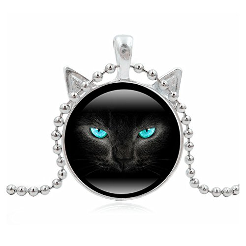 Woman Fashion Jewelry Retro Cute Cat Pendent Necklace for Lover Gift?Sliver?