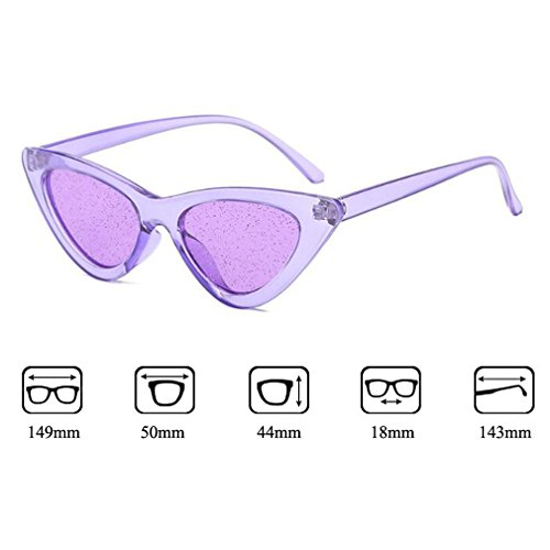 UV Shiny Eye Trendy C7 Style Cat Protección Lentes Stylish Crystal Sunglasses Street Gafas 400 Bright Unisex New ptrq7pw