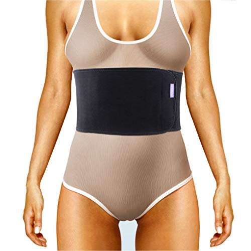 Everyday Medical Broken Rib Brace for Men and Women - Bamboo Charcoal Rib Support Compression Brace - accelerates The Healing of Cracked, Dislocated, Fractured and Post-Surgery Ribs - (Ladies Flat Back Rib)