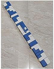 TX GIRL Funda De Billar De Billar De Billar De Billar De Billar De Billar con Bloqueo De Bronce 3/4 Azul Y Blanco Diseño De Parche Azul Y Blanco 3 Compartimentos (Size : 47 Inch)