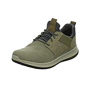 Skechers Men's Classic Fit-Delson-Camden Sneaker,taupe,11 Wide US