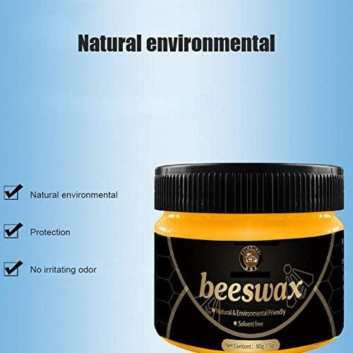 Feunet 100 natürliches Bienenwachs-Poliermittel für Holz & Möbel, Würzmittel für Bienenwachs-Möbelpflege Eichenholz, Teakholz, dunkle und helle Holzbehandlung