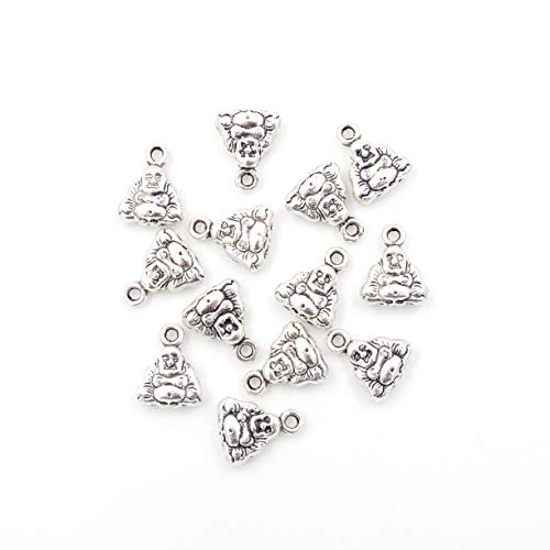 Malahill Charms for Jewelry Making, Small Charms for Bracelet, Sold per Bag 100pcs Inside (Buddha 10x12mm) (Charms For Jewelry Making Buddha)