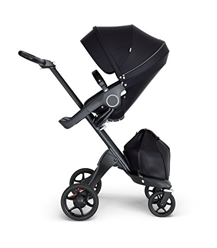 Stokke Xplory V6 Black Chassis Stroller with Black Leatheret