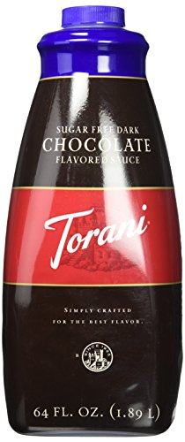 Torani Dark Chocolate Sugar Free Sauce, 64 Ounce ()
